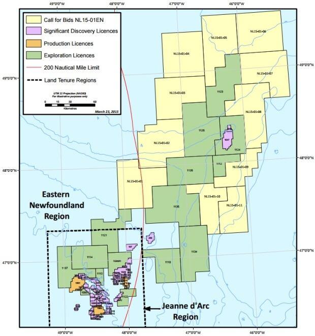 CNLOPB call for bids 2015 map CNLOPB