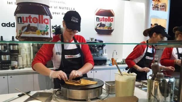 The first-ever Nutella Café in Canada is open at a Toronto Sobeys to the delight of chocolate-hazelnut fans.