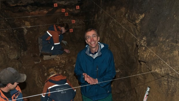 Evolutionary geneticist Svante Pääbo, seen visiting Denisova cave, says Denisovans show as much genetic diversity as Neanderthals, who ranged from Spain to Siberia.