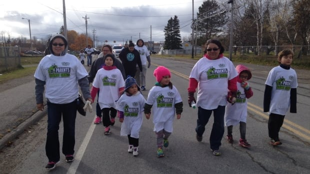 Eskasoni community members gathered for a march against drugs in November, followed by a feast aimed at giving young hunters pride in their community.