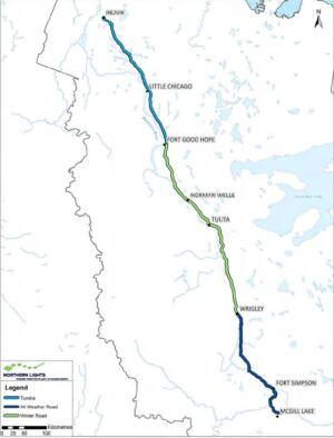 Mackenzie Valley Fibre Link map
