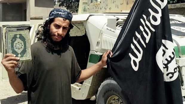 This undated image shown in the Islamic State's English-language magazine Dabiq, appears to show Abdelhamid Abaaoud. Abaaoud, the Belgian jihadi suspected of plotting the Paris attacks, was killed in a police raid on Wednesday, the office of the Paris prosecutor said on Thursday.