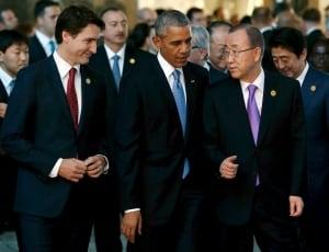 Justin trudeau barack obama ban ki-moon