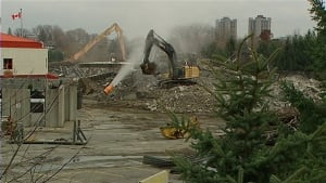 Lansdowne Park south side stands rubble
