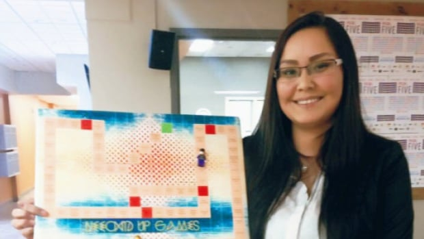Janelle Pewapsconias, creator of Neeched Up Games, designed a board game to teach players about indigenous history, culture, and life.