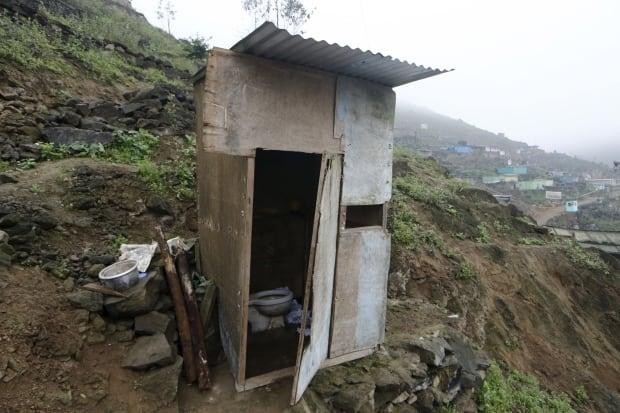 World Toilet Day outhouse Lima Peru Oct 2015