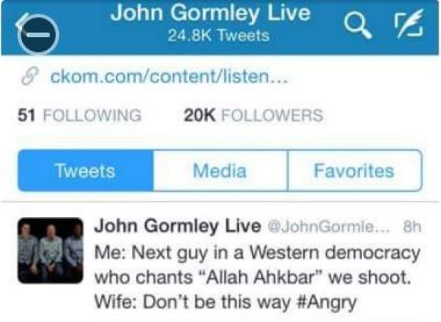 John Gormley has since deleted this tweet