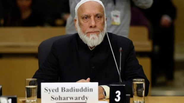 Professor Syed Badiuddin Soharwardy, Islamic Supreme Council of Canada and Muslims Against Terrorism appears at a Senate national defence committee in Ottawa on Monday, February 2, 2015, to discuss security threats facing Canada.