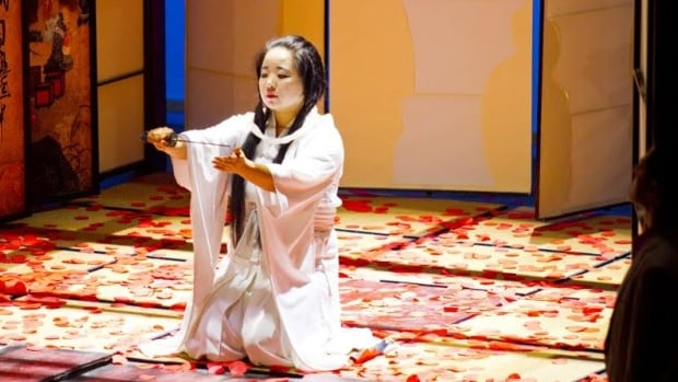Jee Hye Han performing in the title role in Vancouver Opera's Madama Butterfly, which runs until March 13 at the Queen Elizabeth Theatre.