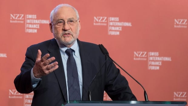 Joseph E. Stiglitz, winner of the Nobel Prize in Economics, speaks during the Swiss International Finance Forum, in Bern, Switzerland, Tuesday, May 20, 2014. Stiglitz says economic inequality is a choice made by our society, not an unexpected consequence.