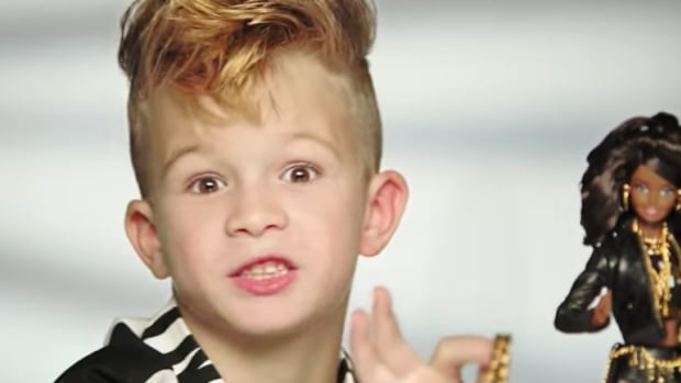 Mattel and fashion designer Jeremy Scott both issued statements this week to clarify that a viral commercial for Moschino Barbie starring a boy was, essentially, a parody – or as Scott called it, a 'fauxmercial.'
