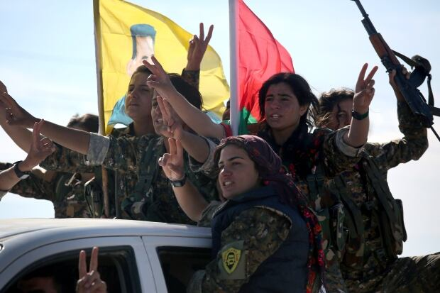 Sinjar retaken from ISIS Yazidi women soldiers Nov 15 2015