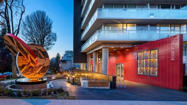 This new rental building at the corner of Broughton and Comox streets in Vancouver's West End upset some residents because rents were pegged at market prices.