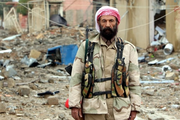 MIDEAST-CRISIS IRAQ-SINJAR retaken from ISIS Nov 16 2015