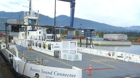 New Denman Island cable ferry stranded after breakdown