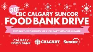 CBC Calgary Suncor Food Bank Drive Logo
