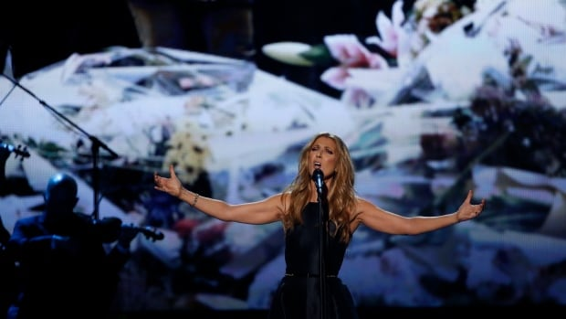 Céline Dion performs Hymne à L'Amour in honour of the victims of the recent Paris attacks during the 2015 American Music Awards in Los Angeles on Sunday.