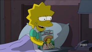 Lisa Simpson and Anne of Green Gables