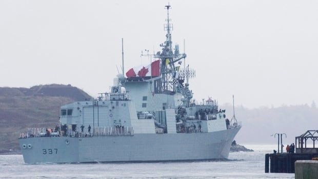 Canadian warship HMCS Fredericton left Halifax today for a mission in the Mediterranean.