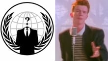 Anonymous ISIS rickrolling