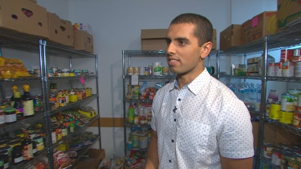 Jay Singh, coordinator of the AMS Food Bank at UBC, says the organization saw 95 visits in the month of October alone, three times more what than the same time last year.