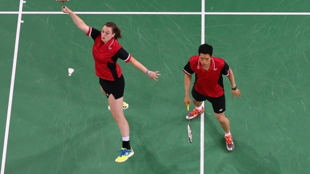 Alex Bruce and Toby Ng are one of Canada's mixed doubles partners.
