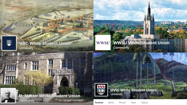 The Facebook pages appear to be in response to a call to action on the white supremacist site the Daily Stormer and do not represent real student unions.