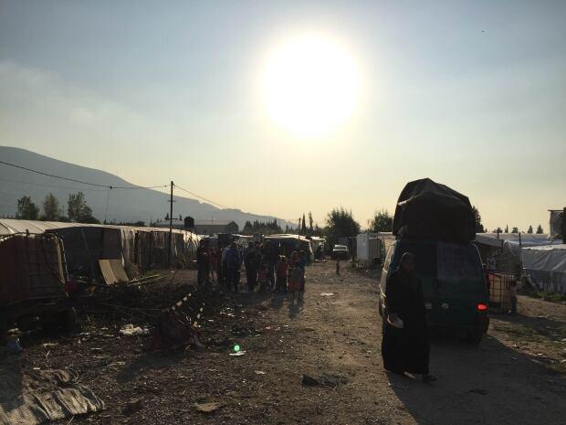 Makeshift refugee camp, Minieh Lebanon