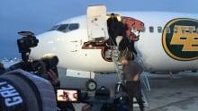 Eskimos, Redblacks arrive in Winnipeg for 103rd Grey Cup
