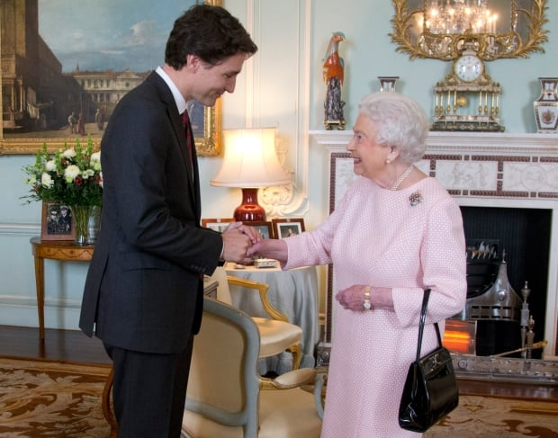 Queen and Trudeau
