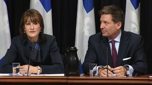 Kathleen Weil and Public Security Minister Pierre Morea