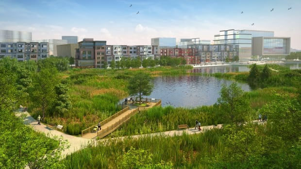 The original plan for Blatchford includes two storm water ponds and a recreational lake.