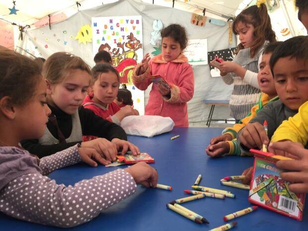 Syrian child refugees