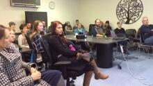 Prospective volunteers at orientation session in Saskatoon