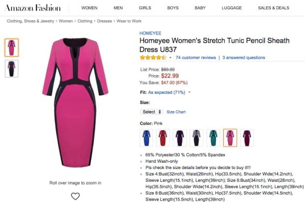 Amazon meteorologist dress