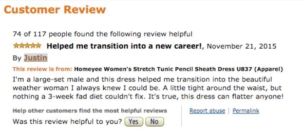Amazon Review dress