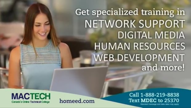 Mactech Distance Education used commercials to advertise its online courses. The private career college headquartered in North Sydney is closing.