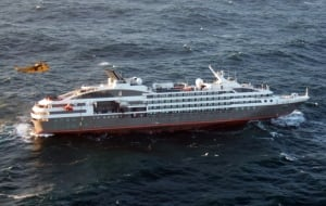 BRITISH FORCES GO TO ASSISTANCE OF STRICKEN CRUISE LINER IN THE FALKLANDS