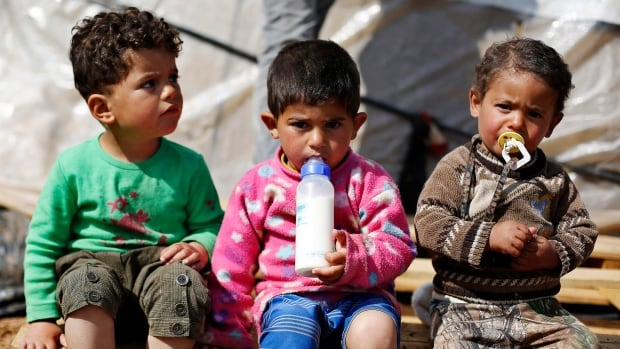 Three countries, Lebanon, Jordan and Turkey are jockeying to have Canada accept refugees within its borders. Syrian refugee children, mostly from Idlib province in Syria, have been living in Jordan for more than 2 years since fleeing the violence in Syria.