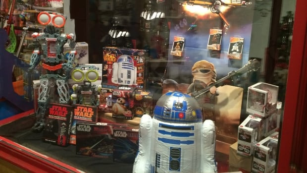 'Tis the season for 'top toy lists' as shoppers try to find the perfect gift for the children and teens in their lives. Star Wars toys, build-it-yourself-personal robots and drones are among the popular items this year. But the Canadian Toy Association says classic lower-tech toys — including board games — are also in high demand.