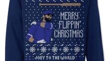 Jose Bautista's bat flip emblazoned on ugly Christmas sweater