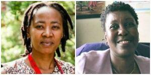 Vuyiseka Dubula and Dorothy Onyango