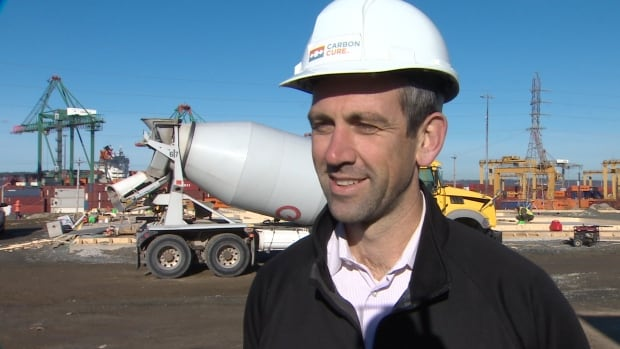 Rob Niven, the CEO of CarbonCure Technologies, says his company has been developing the specialized concrete for more than five years in Burnside, N.S.