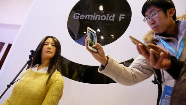 Osaka University's Geminoid F, created to look like an actual woman in her 20s, is said to have been among the most advanced robots at the World Robot Conference in Beijing this week.