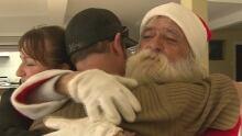 Fernand Gaurtreau gets a new Santa suit