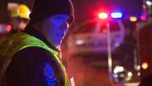 New Westminster officer at pedestrian accident