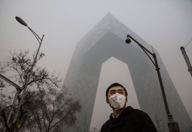 Beijing bad air quality Nov 30 2015 CCTV building
