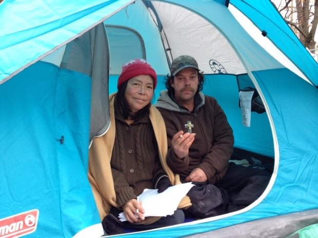Homeless campers in Victoria