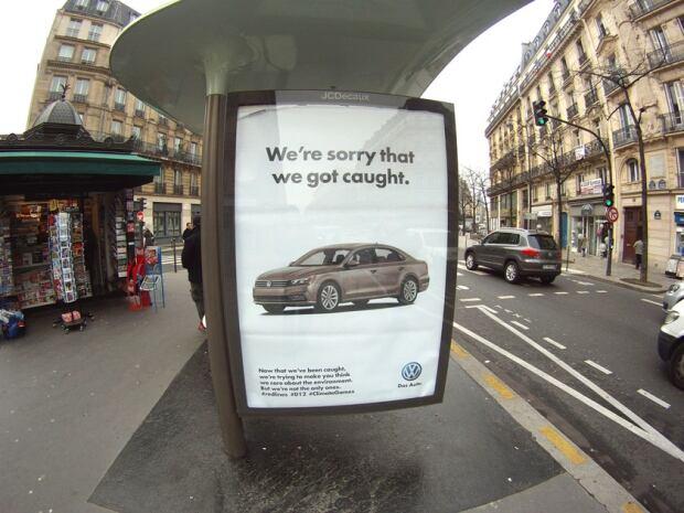 Volkswagen ad Brandalism