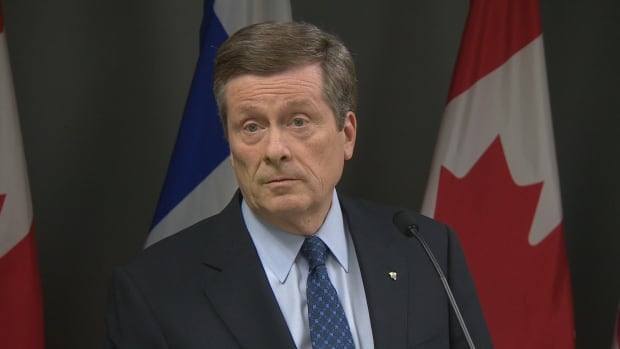 "Mayor John Tory says city will ""achieve a balanced budget with a property tax increase at or below the rate of inflation."""